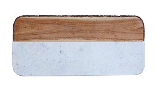 Creative Co-Op DA6331 Mango Wood and Marble Cheese Board Multicolored