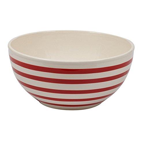 Peppermint Stripes Ceramic Mixing Bowl