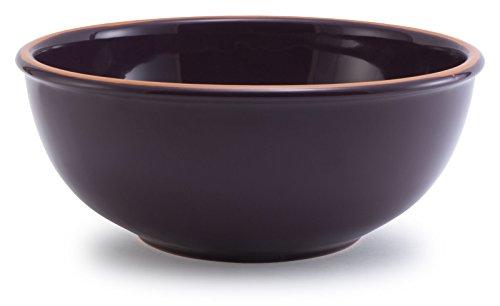 Plum Purple Glazed Terracotta Ceramic Mixing Bowl 115Dx475H