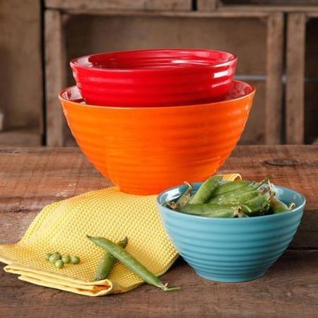 The Pioneer Woman Flea Market 3-Piece Ceramic Mixing Bowls WLM