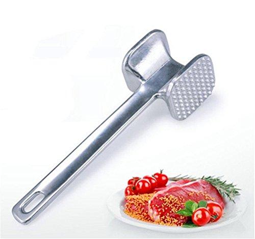Surborder Shop Meat Tenderizer Hammer Stainless Steel Silver