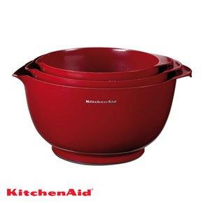 KitchenAid Professional Series Red Mixing Bowls Set of 3