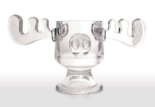 Christmas Vacation Glass Moose Mug Punch Bowl Set w Set of 8 Moose Mugs