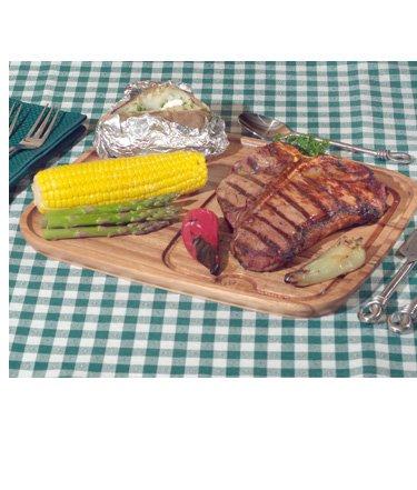 Ironwood Gourmet 11x13 Wood Steak Serving Plate