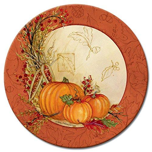 CounterArt Lazy Susan Glass Serving Plate Autumn Array