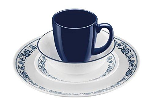 Corelle 16 Piece Old Town Blue Livingware Dinnerware Set White