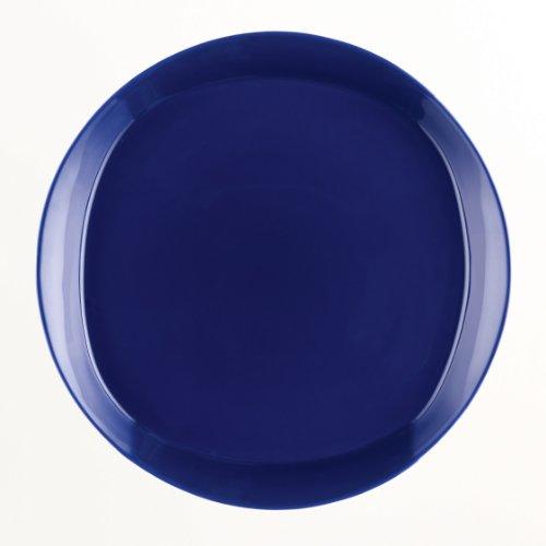 Rachael Ray Dinnerware Round Square 4-Piece Stoneware Dinner Plate Set Blue