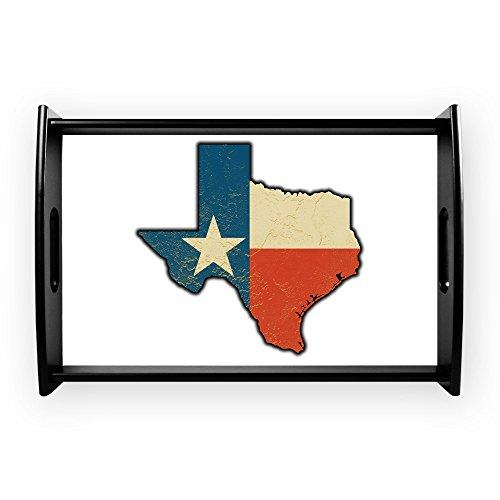 Small Serving Tray Texas Flag Texas Shaped