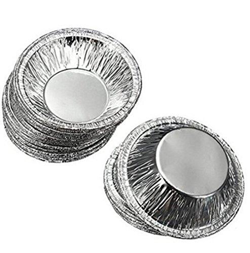 250PCS Disposable Egg Tart Shells Aluminum Cupcake Cake Cookie Mould Tin Baking Tool Baking Cups