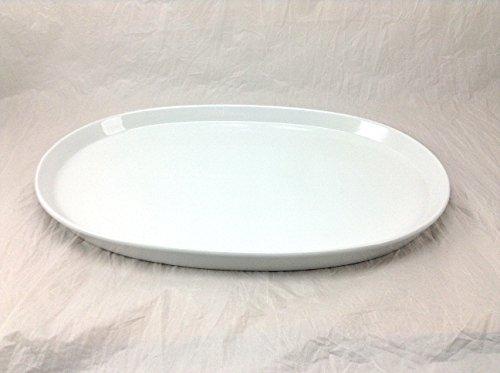 BIA Cordon Bleu 906062 21 by 14-Inch Oval White Porcelain Serving Platter Large