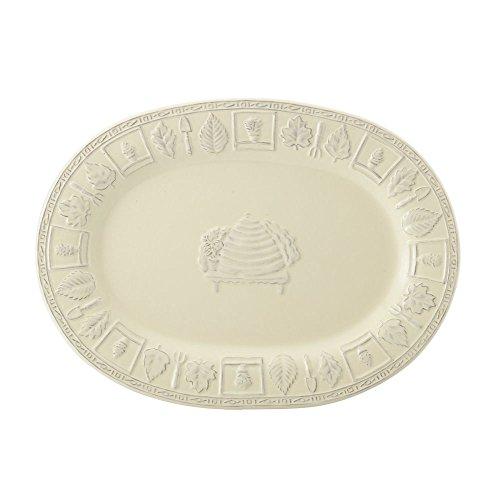 Pfaltzgraff Naturewood Embossed Oval Serving Platter 16-Inch