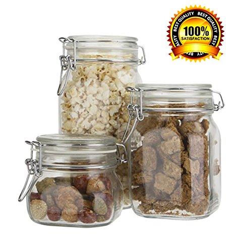 Bormioli Rocco/paksh Novelty Fido High Quality Airtight Glass Canister /jar With Lid • Use As Tea - Coffee -