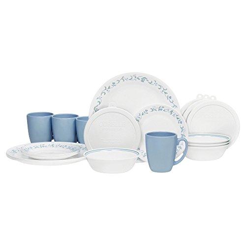 Corelle 20 Piece Livingware Dinnerware Set with StorageCountry Cottage Service for 4