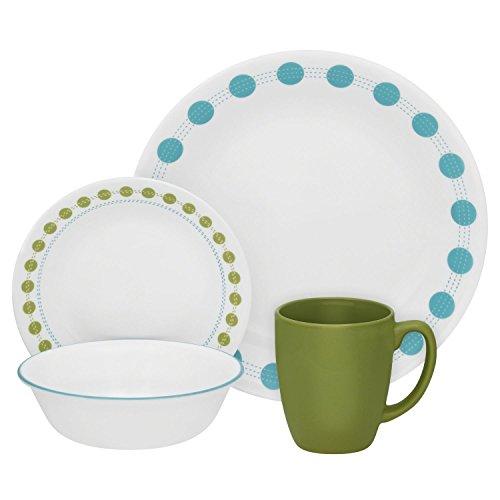 Corelle Livingware 16-Piece Dinnerware Set South Beach Service for 4