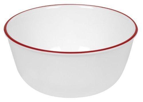 Corelle Livingware 28-Ounce Super SoupCereal Bowl Red Band 3 Bowls