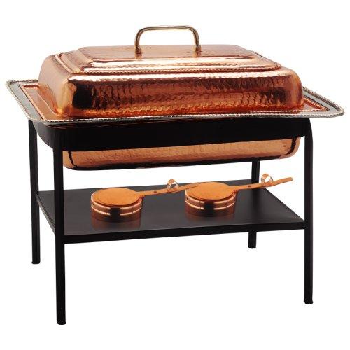 Old Dutch 21x16x19 Rect Décor Copper Chafing Dish 8 Qt