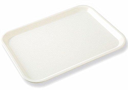 Moyishi Rectangular Eco-friendly Cafe Standard Plastic CafeteriaFast Food Serving Tray 33cmx25cm White