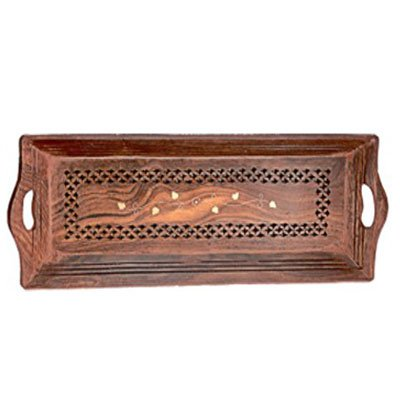 Wood Handmade 15 X 6 Inch Tray Wooden beautiful Serving Tray Kitchen TrayFood Tray Gift your Valentines on Special Day