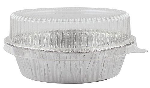 Foil Disposable 4-28 Mini Pot Pie Food Mini Tart Pans Mini Pie Pans with Plastic Lids 1 Pack 20 Sets