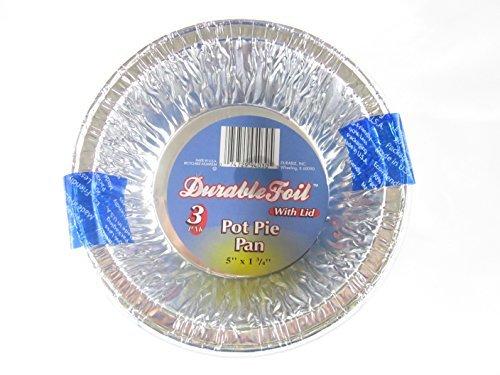36 Disposable Aluminum Pot Pie Pans with Lids