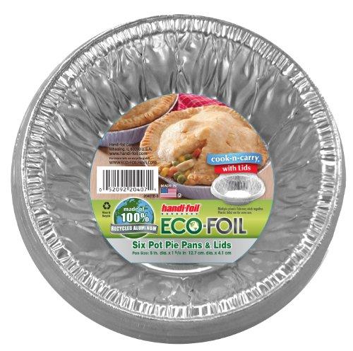Cook-N-Carry Pot Pie Pans wLids 6 ct