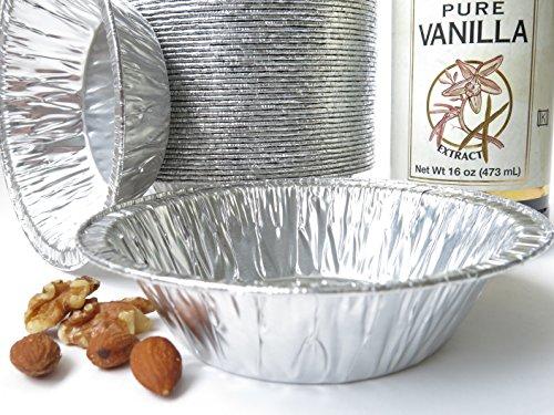 Disposable Aluminum 5 Tart Panindividual Pie PanSmall Pot Pie Pan 501 50