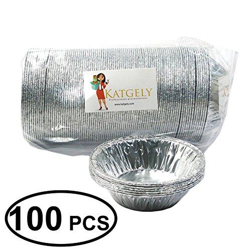 Katgely 7 Oz Aluminum Casserole Pot Pie Pans Pack of 100