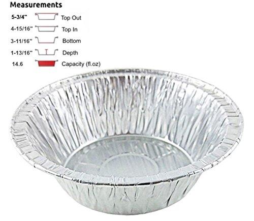 Pactogo Disposable Aluminum 5 34 Meat Pot Pie Extra Deep Pan Baking Tin Pack of 50