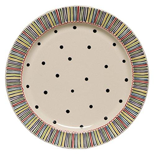 Thompson Elm M Bagwell Happy Together Ceramic Serving Platter Large Multicolor