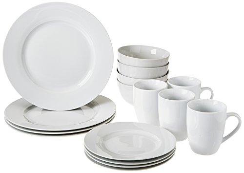 AmazonBasics 16-Piece Dinnerware Set Service for 4