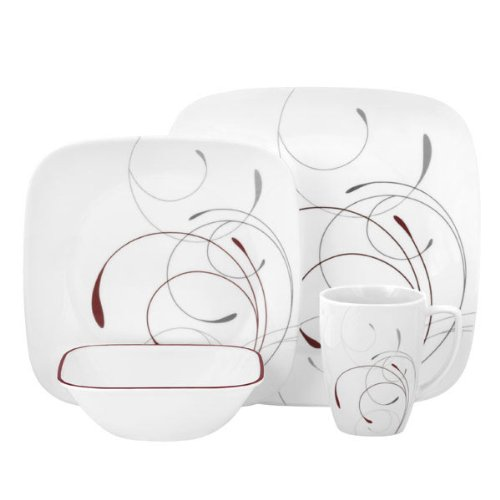 Corelle Square 16-Piece Dinnerware Set Splendor Service for 4