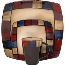 Gibson Soho Lounge Mosaic 16 Piece Dinnerware Set