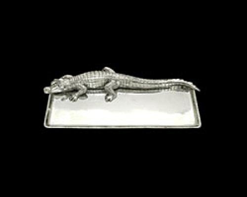 Arthur Court Designs Aluminum Alligator Tray 9x20