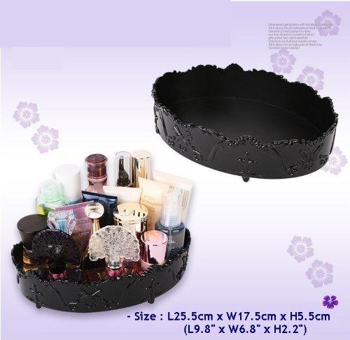 Jewelry Cosmetic MakeUp Perfume Large Organizer Oval Tray NIB