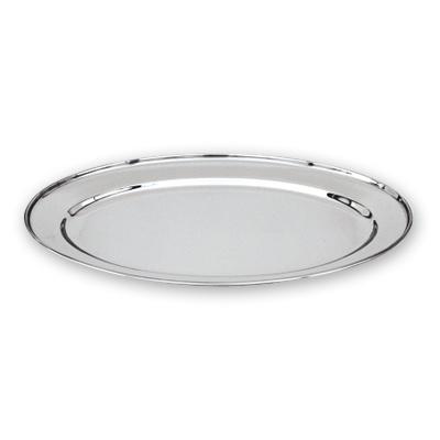 Update International OP-16 15 34 x 10 12 Oval Stainless Steel Platter by Update International