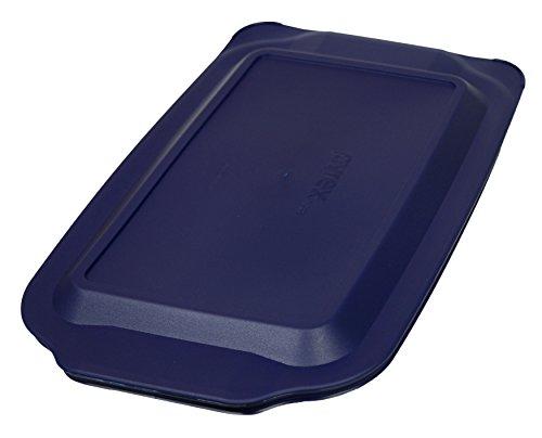 Pyrex 3 Quart 9 x 13 Blue Rectangular Plastic Lid 233-PC for Glass Baking Dish