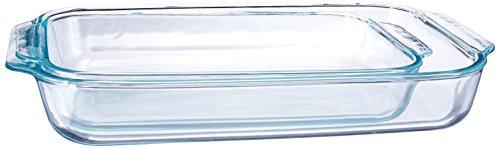 Pyrex Basics Clear Oblong Glass Baking Dishes 2 Piece Value Plus Pack Set