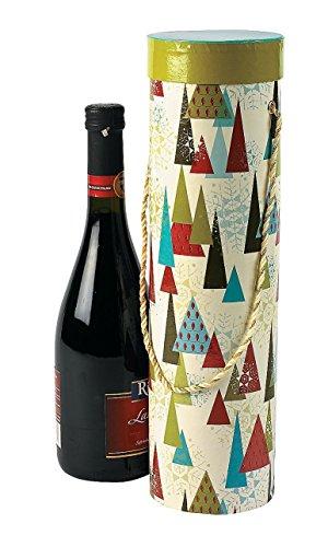 Christmas Print Wine Boxes with Handles 3 pcs per set 14 x 4
