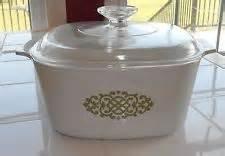 Vtg Corning Ware 3 Qt Green Medallion Casserole Baking Dish  Lid A-3-b