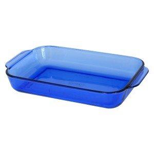 Anchor Hocking Cobalt Blue Rectangular Baking Dish  9 12 x 13 12  3 Quart   1040