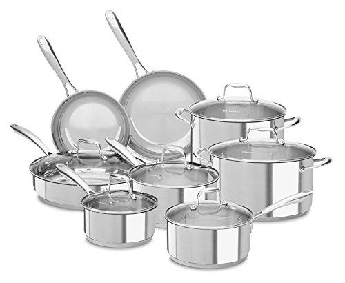 KitchenAid Stainless Steel 14 Piece Cookware Set