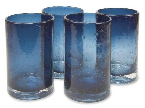 Artland Iris Highball Glasses, Slate Blue, Set Of 4