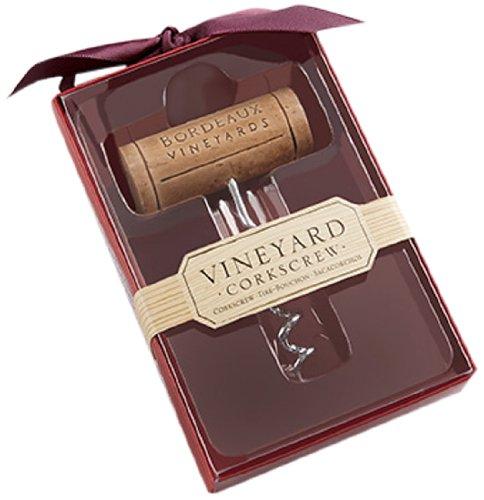 Kate Aspen Bordeaux Vineyards Stainless Steel Corkscrew Gift Box