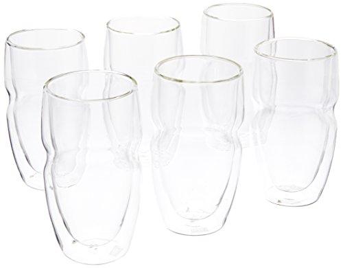 Ozeri Serafino Double Wall Insulated Iced Tea And Coffee Glasses, 16-ounce, Set Of 6