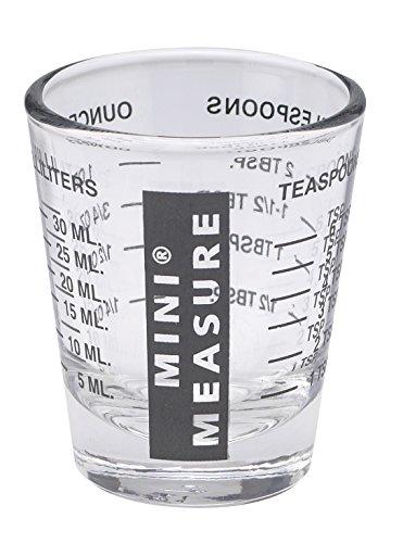 Mini Measure Multi-purpose Liquid And Dry Measuring Shot Glass, Heavy Glass, 26-incremental Measurements For Teaspoons