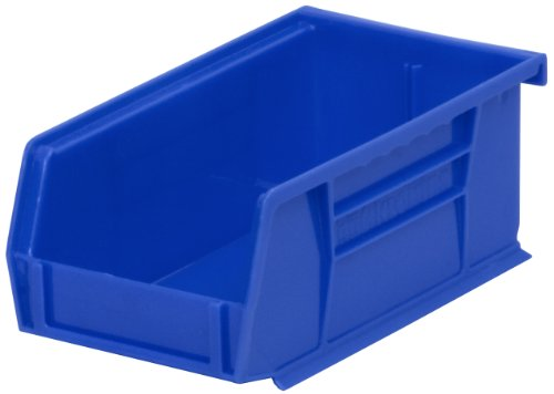 Akro-Mils 30220 Plastic Storage Stacking Akro Hanging Bin 7-Inch by 4-Inch by 3-Inch Blue Case of 24