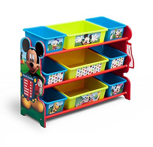 Delta Children 9 Bin Plastic Organizer Disney Mickey Mouse