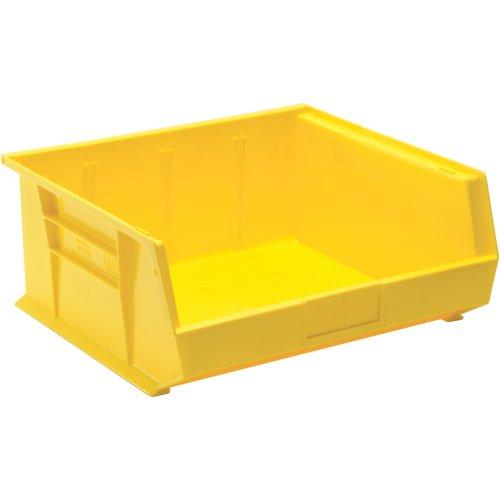 Edsal PB8505Y High Density Stackable Plastic Bin 16 Width x 7 Height x 14 Depth Yellow Pack of 6