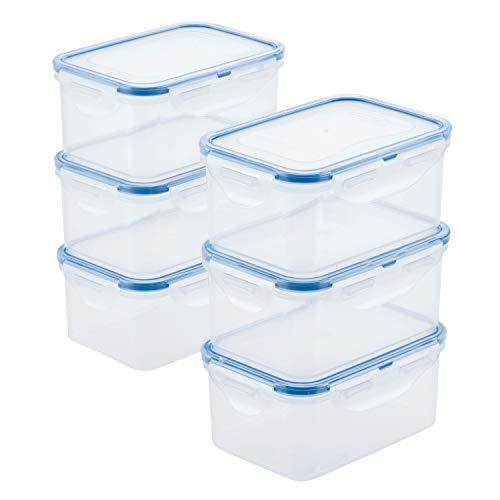 Lock Lock HPL811S6 Easy Essentials Storage Food Storage Container SetFood Storage Bin Set - 6 Piece Clear