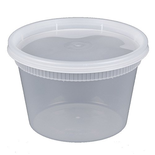 Microwavable Freezer Dishwasher Safe 16 oz Round Deli Food Storage Containers with Lids by Comfy Package Prevents Leaks and spills 36 PACK
